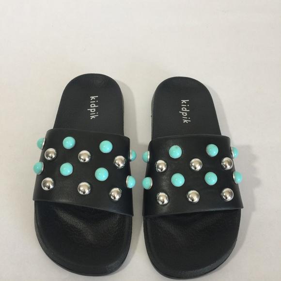 Kidpik Shoes Sandals White Flip Flops Girls Slip On